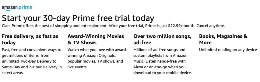 prime offer online