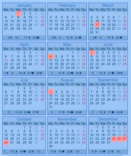 Bank Holidays in Ireland 2020 - Full Year Calendar