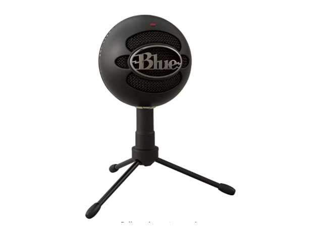 blue snowball podcast microphone