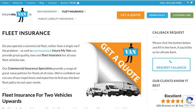 insurance my van fleet insurance