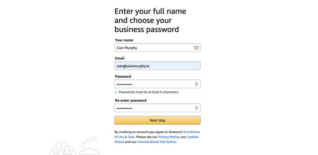 choosing an amazon password