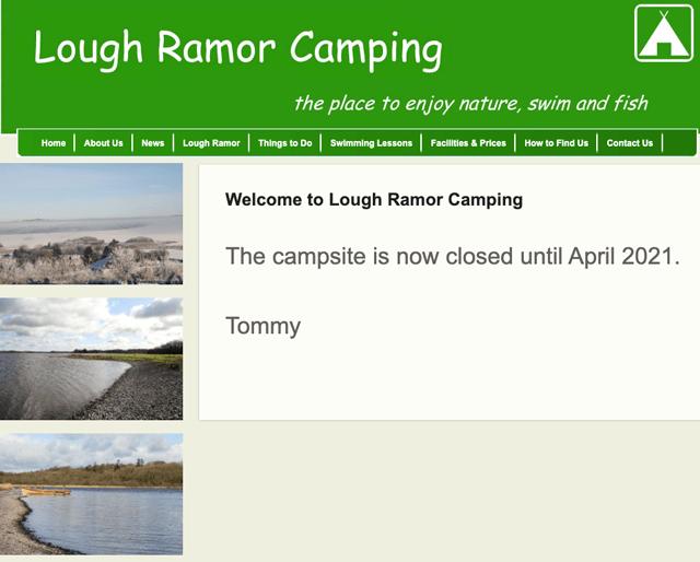 Lough Ramor Camping, Cavan.