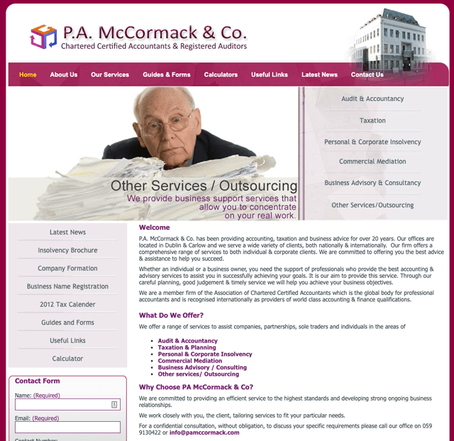 P.A. McCormack & Co, Chartered Certified Accountants and Registered Auditors Carlow